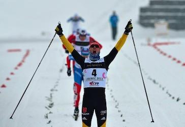 Lennart Metz beim Überqueren der Ziellinie